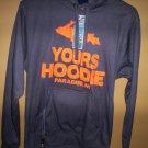 U.P. Yours Hoodie w/Koozie & Bottle Opener Gray Orange Pullover Jacket Size M
