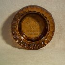 Amber Del Webb Hotels Vintage Ashtray with embossed name & logo 4 inch