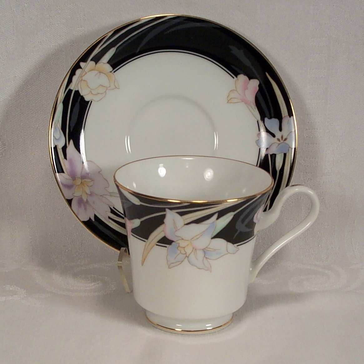 Mikasa Charisma Black Footed Cup and Saucer