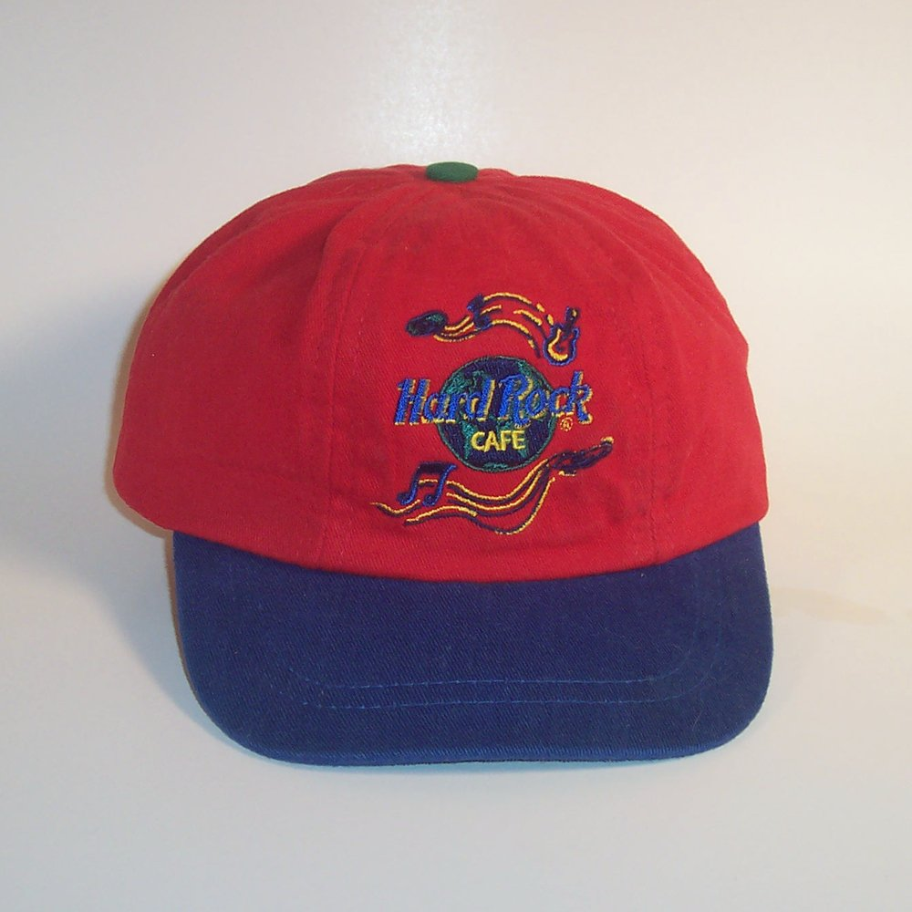 Hard Rock Cafe Child's Cap Save The Planet Hat Retro Red & Blue Denim