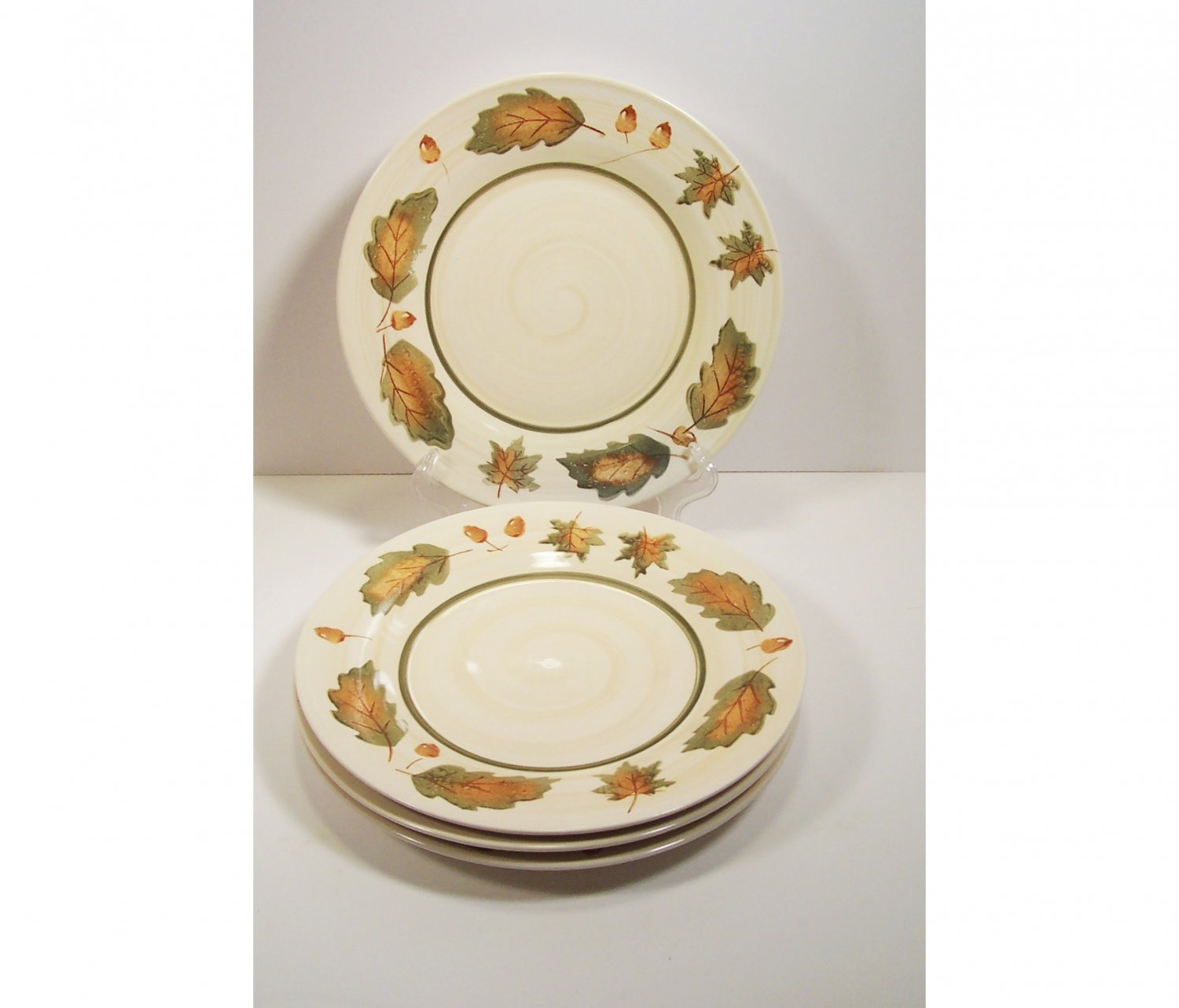 sc 1 st  SheilaDeesTreasureFinds - eCRATER & Royal Norfolk Set of 4 Dinner Plates Autumn Leaves and Acorns