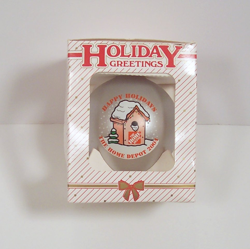 The Home Depot 2004 Happy Holidays Christmas Ornament In Original Box