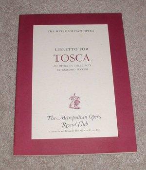 Libretto for Tosca by Puccini, Giacomo