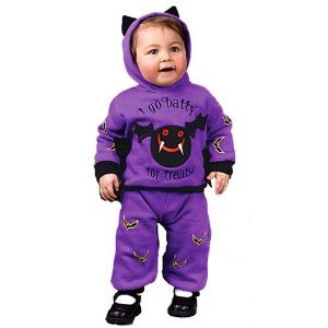 Itty Bitty Bat Costume Baby for Halloween 6-12m