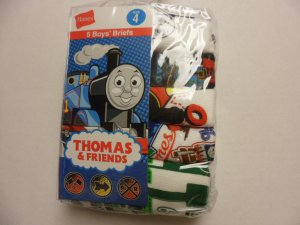 Hanes 5 Boy's Brief Thomas and Friends Size 4