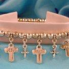 LOVE, HOPE, FAITH Christian Charm Bracelet