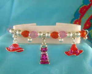 RED HAT SOCIETY Stretchy Charm Bracelet