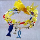 Childrens Triple Strand Christian Fish Charm Bracelet