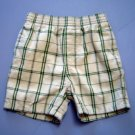 GYMBOREE Khaki and Green Plaid Shorts, Infant Boys 18-24 Months