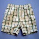 GYMBOREE Khaki and Green Plaid Shorts, Infant Boys 18-24 Months