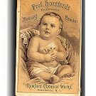 1880s Prof Horsford's Baking Powder Trade Card