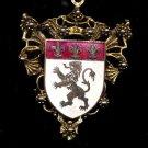 Lovely Heavy Vintage Shield Necklace