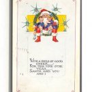 Great 1922 Art Deco Santa Claus Seated Postcard