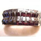 Lovely Vintage Wide Silvertone Mesh Bracelet