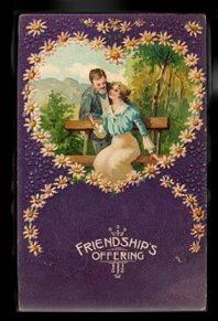Lovely 'Friendships Offerings' Valentine's Day Postcard