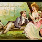 Lovely 'T'was in the Time of Roses' Valentine Postcard