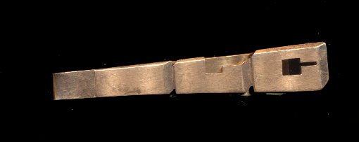 Goldtone Initials 'L C' Vintage Tie Clip