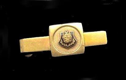 Vintage ICMS I.C.M.S. Goldtone Enamel Tie Clasp