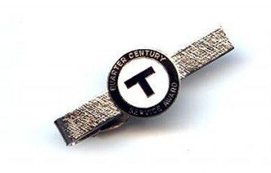 Vintage Quarter Century Service Award Tie Clasp