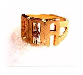 Vintage Fraternal OOA Goldtone Mens Ring