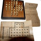 1880s Nonnenspiel (German Solitaire) with Ivory Pieces