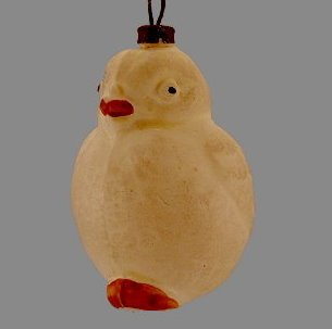 Early 1900s Blown Glass Chick Ornament