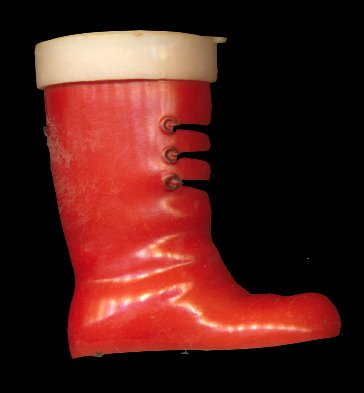 Great Vintage Hard Plastic Boot Candy Container