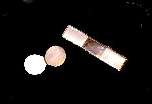 Lovely Vintage Mother of Pearl Tie Clip & Cuff Links