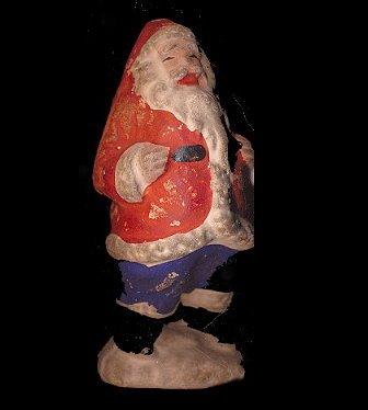 """Vintage Japan (1920s-1930s) 3"""" Bisque Santa Claus"""