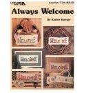 Leisure Arts 'Always Welcome' Cross Stitch Patterns