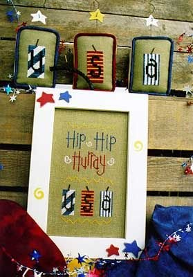 4 My Boys 'Hip Hip Hurray' Firecrackers Cross Stitch pattern