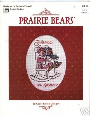 """Prairie Bears"" (Teddy) 12 Cross Stitch Designs Booklet"