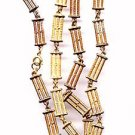 "Vintage 'Brick' Design Goldtone 27"" Necklace"