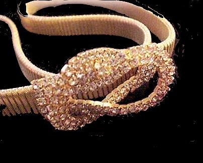 "Goldtone with Rhinestones Front 36"" Vintage Belt"