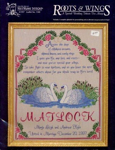 "1997 ""Special Wedding Tribute"" Sampler Cross Stitch Pattern"
