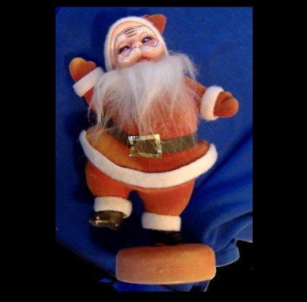 """Neat 8 1/2"""" 1950s-1960s Plastic Santa Claus"""
