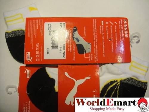 PUMA socks 2 Pairs of low cut men running white NWT