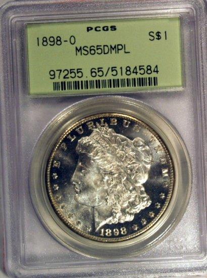 1898-O $1 Morgan MS65DMPL PCGS OGH