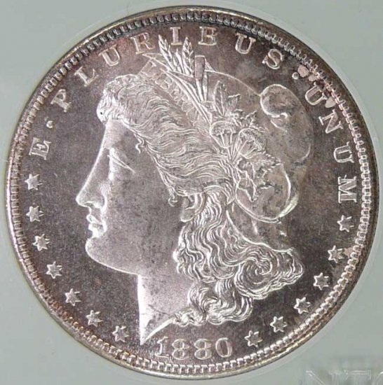 1880 S MORGAN DOLLAR MS67