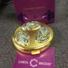 CAROL BRODIE Diamond Gardenia Solid Perfume With Jeweled Compact