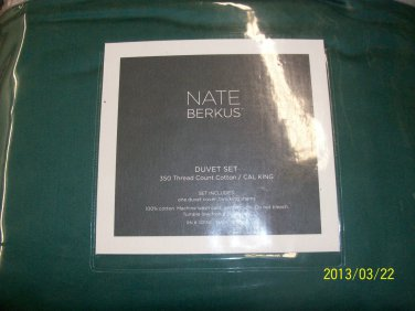 Nate Berkus 350 Thread Count Duvet Set~ Cal King ~ Ocean Green
