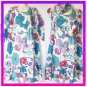 Purple Blue Big Vntage floral Hippie Gypsy Boho Dress or Top size S M L