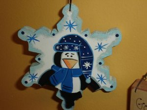 Penguin Snowflake Ornament