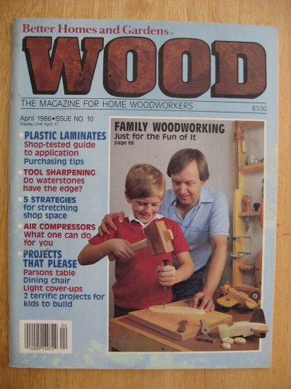 """Vintage Better Homes and Gardens """"Wood"""" 4/1986"""