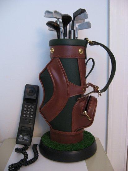 Leather Executive Golf Bag Phone