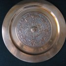Vintage Brass Mexican Aztec Plate