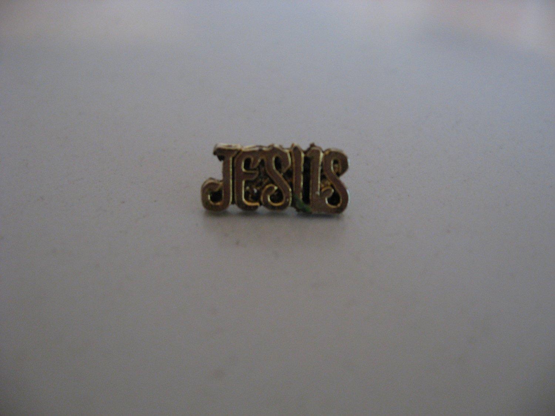 Gold Jesus Pin