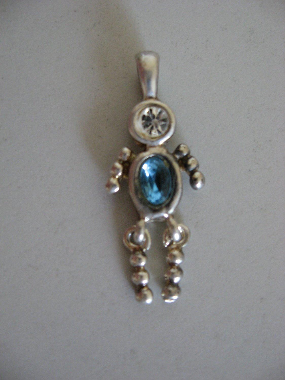Silver Birthstone Aquamarine Male
