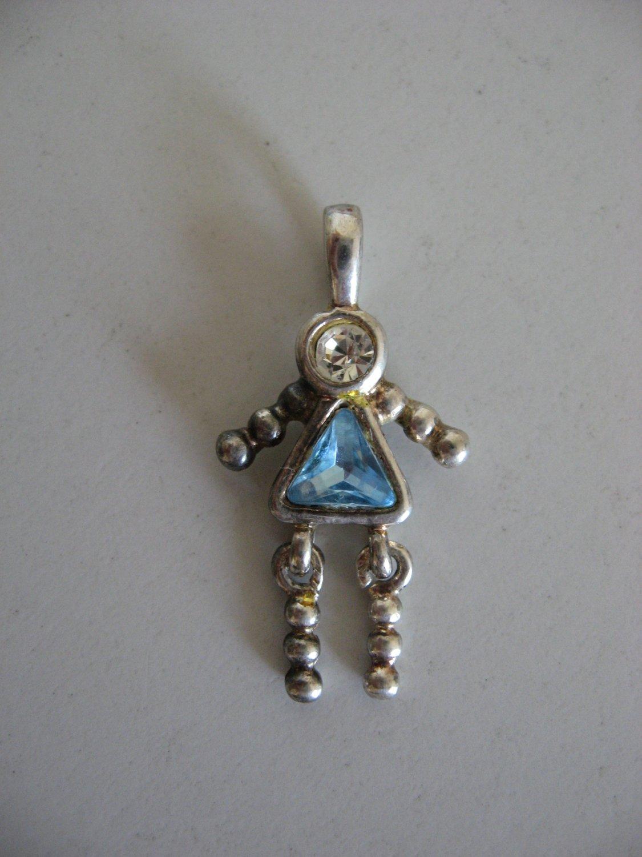 Silver Birthstone Aquamarine Female