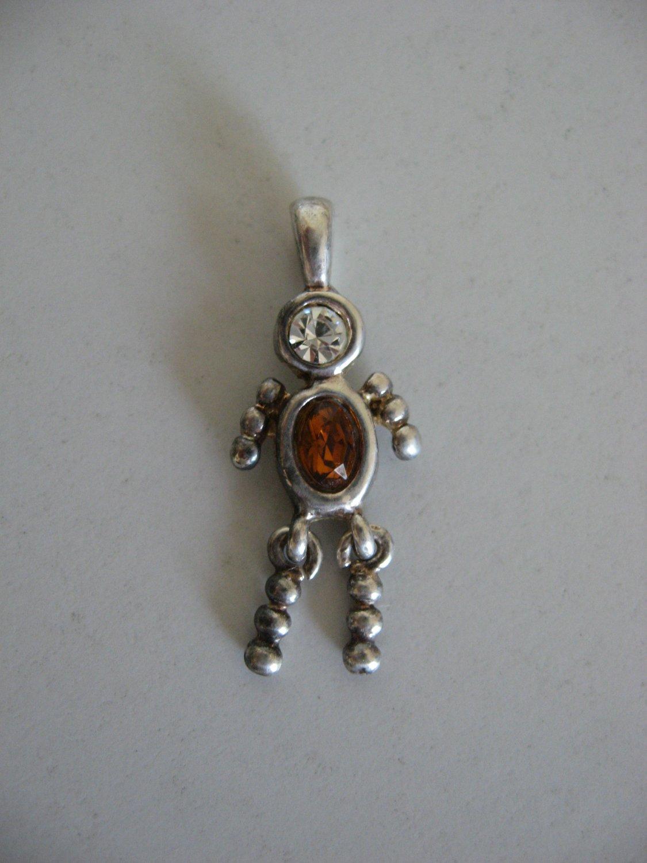 Silver Birthstone Ruby Male